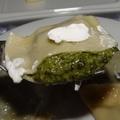 Spenótos, sajtos ravioli