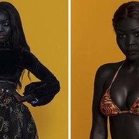 Ő legfeketébb bőrű modell a világon!