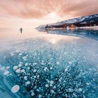 Jeges szépségében tündököl a világ legtisztább tava