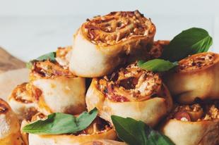 Omlós glutén-, tej-, és tojásmentes pizzacsiga recept egyszerűen!