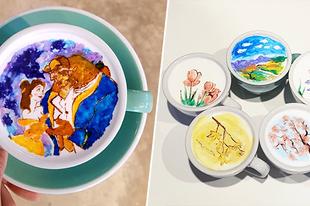 Műalkotások kávéba rejtve