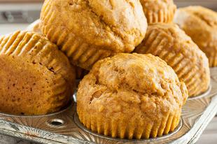 Omlós tökös muffin mentesen