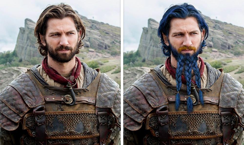 Daario Naharis: Kék haj és szőke bajusz<br />