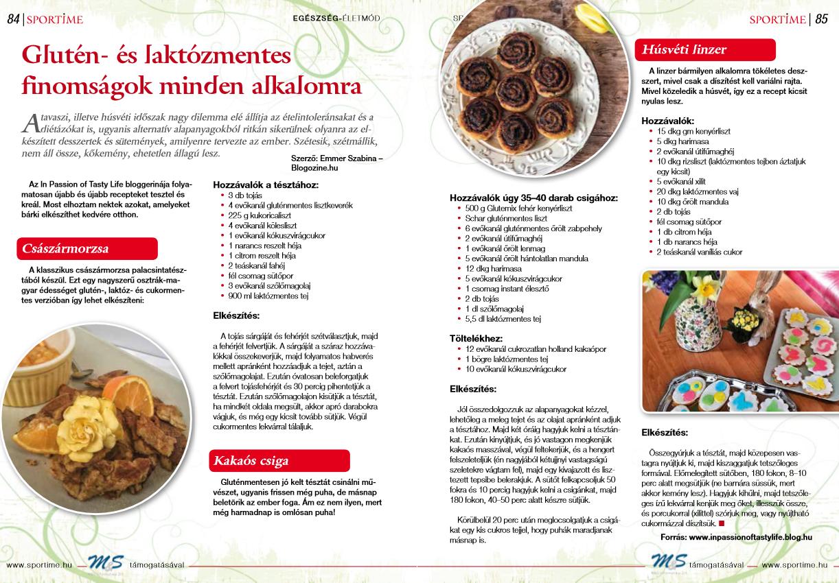 SporTime magazin (nyomtatott sport magazin) - Gasztro