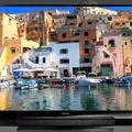 Kék- és vörös lézer a tévében.