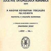 A Folia Entomologica Hungarica első időszaka (1923–1943)