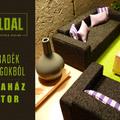 Modern babaház bútor házilag, otthon fellelhető anyagokból