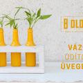 Modern váza eldobható üvegekből