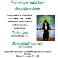 Meghívó író-olvasó találkozóra - Farkas Lívia: Ennél zöldebb nem lesz!