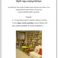 Meghívó - nyílt nap a könyvtárban