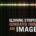 Véletlenszerűen generált csíkos háttéren izzó plazma