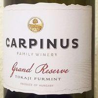 Tegnap ittuk – Carpinus Grand Reserve Furmint 2016
