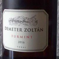Tegnap ittam - Demeter Zoltán Furmint 2016