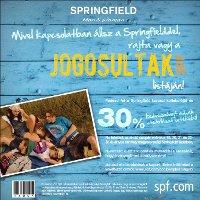30% kedvezmény a Springfield tavaszi kollekciójára. Töltsd le hozzá a kupont tőlünk