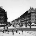 Az Oktogon és a Teréz körút a Nyugati pályaudvar felé az 1890-es évek végén