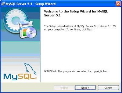 mysql szerver laptop
