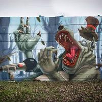 Fat Heat új falfestménye Szemeretelepen