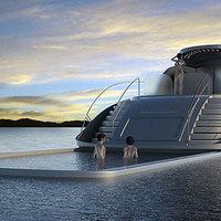 Cápaálló kihúzható medencét kapott a szerb luxusjacht