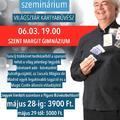 Rafael Benatar szeminárium pénteken Budapesten!