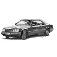 Mercedes-Benz E-Class Coupe (fekete)