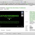 Lecture Performance - Salon MSU, Belgrade