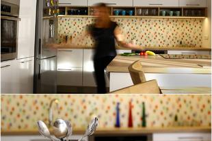 Vidám konyha egy csipet betonnal fűszerezve