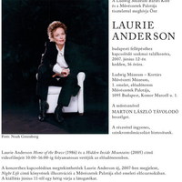Laurie Anderson holnap is!
