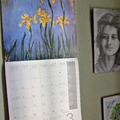 Monet márciusi íriszei