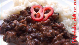 Feketebabos chili con carne