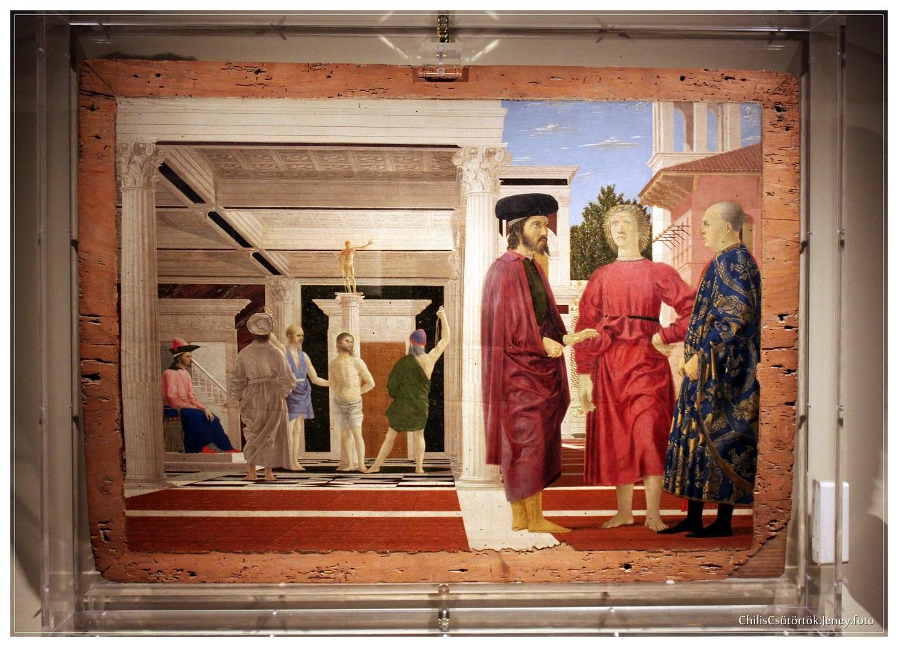 Piero della Francesca, Jézus ostorozása