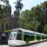 Gumikerekű villamos Dél-Amerikában is