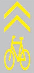 Kerékpáros nyom útburkolati jel