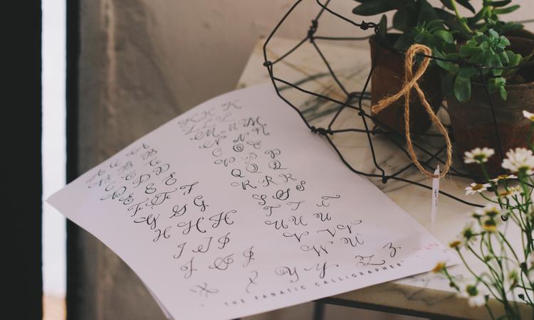 Vadvirágos kalligráfia - négy óra relaxáció a Wild Flower Bar-ban
