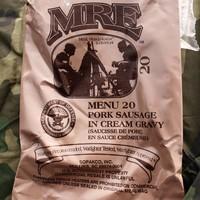 MRE Menu 20 Pork Sausage In Cream Gravy