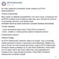 Kimaxolta a taplóságot az MTVA sajtóirodája