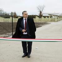 Csak a pártmédia kamerázhatta a cimborája disznótelepét átadó Orbán Viktort
