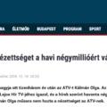 A Habonymédia máris nekiment Kálmán Olgának