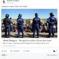Hogy miért pont migránsokat méregető rendőrök fotójával sikerült illusztrálni egy rendőrgyilkosságot, azt nem tudom