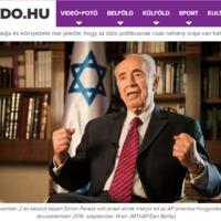 Ilyen sem volt még: Simon Peresz idén szeptemberi nyilatkozatáról már egy éve van képe az MTI-nek