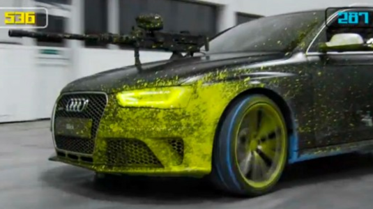 Paintball Audi módra!