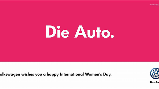 Így köszönti a hölgyeket ma a Volkswagen