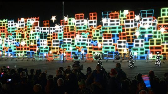 Karácsonyi fényjáték, 1 millió LED izzóval