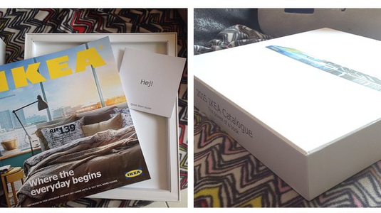 IKEA katalógus bemutató Apple stílusban