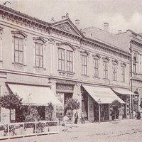 Bérház - járásbíróság - kereskedelmi iskola - Ibsen Ház