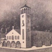 Árpádházi Szent Erzsébet plébániatemplom és kapucinus rendház terve