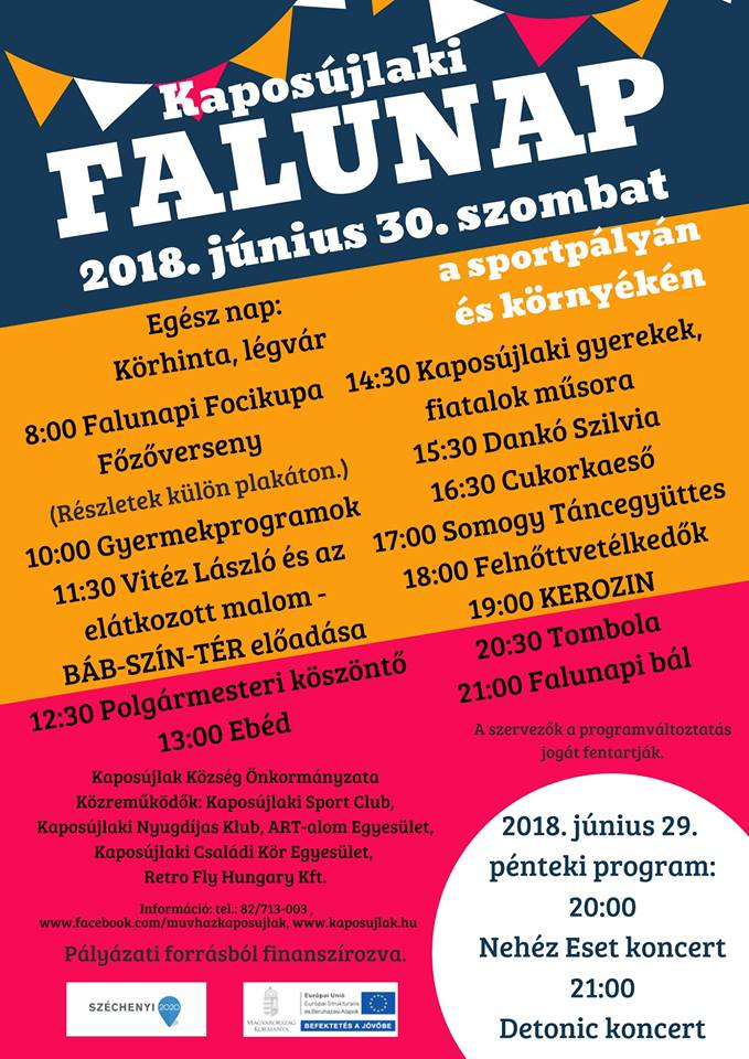Kaposújlaki Falunap plakát