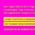 Tüntetés lesz holnap a Belvárosban a szabad sajtóért és a függetlenségért