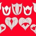 Dupla tulipánok és szívek