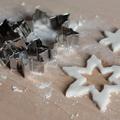 Csillogó karácsonyfadísz szódabikarbónából
