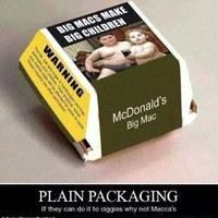 Márkázatlan csomagolások a cigi példájára